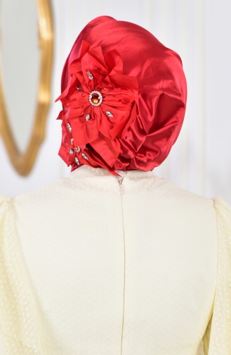 Red Ready to wear Turban 440007-01