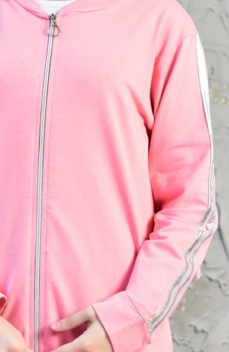 بدلة رياضية بتصميم سحاب 18052-07 لون مشمشي 18052-07
