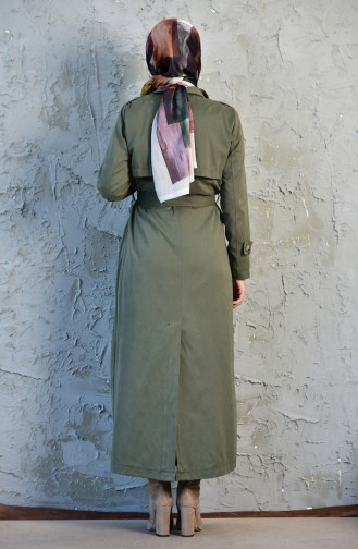 Belted Trench Coat 5089-03 Green 5089-03