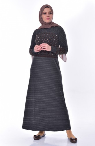 Pearl Detailed Dress 99162-04 Anthrsite 99162-04