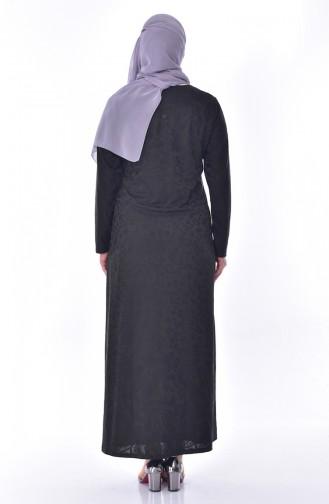 Robe Imprimée de Pierre Grande Taille 4889-02 Khaki 4889-02