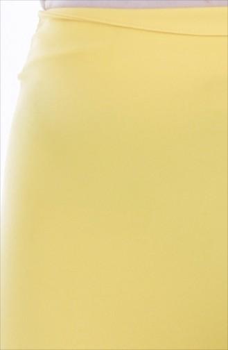 بنطال بتصميم مُخطط وقصة اسبانية 1699-01 لون اصفر 1699-01