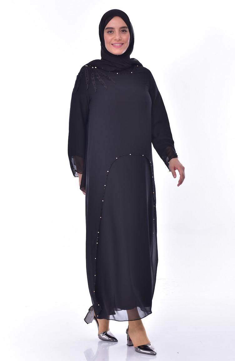 9a4dc5c817f05 Plus Size Stone Dress 1121-05 Black 1121-05