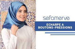 Sefamerve Foulard Boutons-Pressions