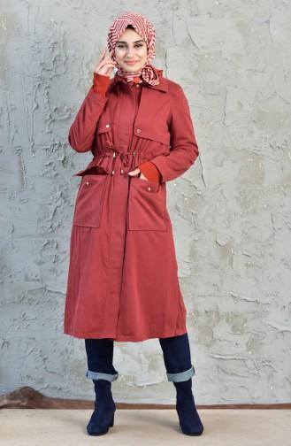 Beli Pleated Trench Coat 5090-02 Tile 5090-02