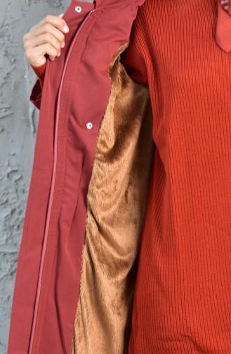 Trench Coat Taille Plissée 5090-02 Brique 5090-02