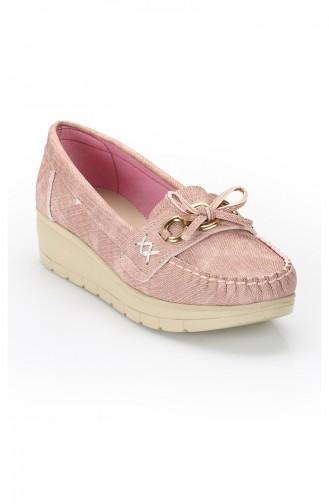 حذاء مسطح 11000 لون وردي 11000