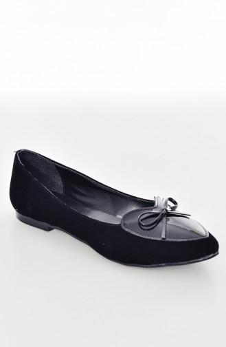 حذاء مسطح 6700 لون أسود 6700