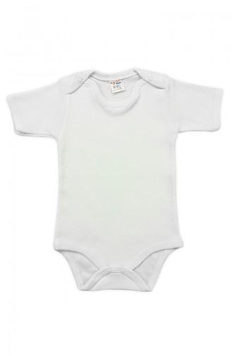Bebek Çıtçıtlı BodyA6856-01 Krem