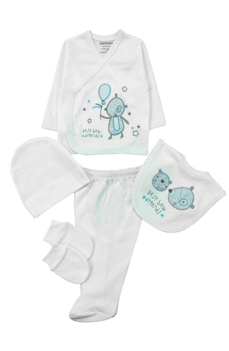 397ad46f9 Cream Newborn Baby Suits 8086-01