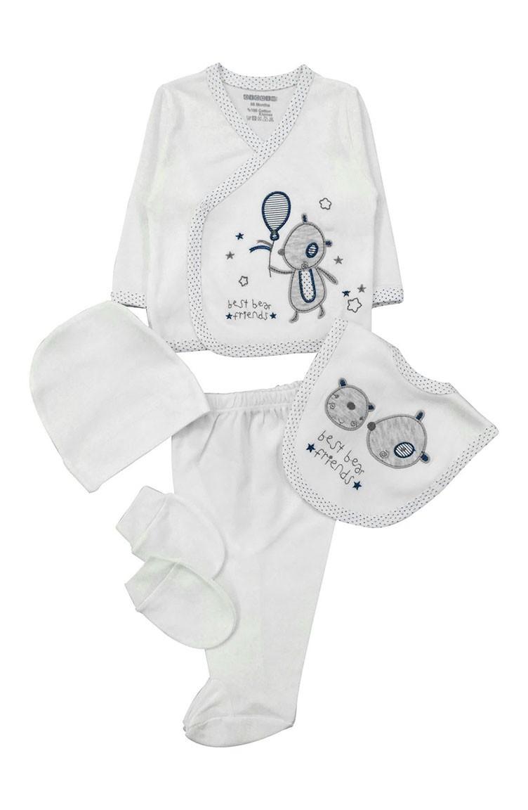 274163a36 Cream Newborn Baby Suits 8087-01