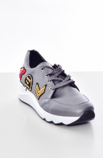 Patterned Women´s Sports Shoes 653K-02 Smoked 653K-02