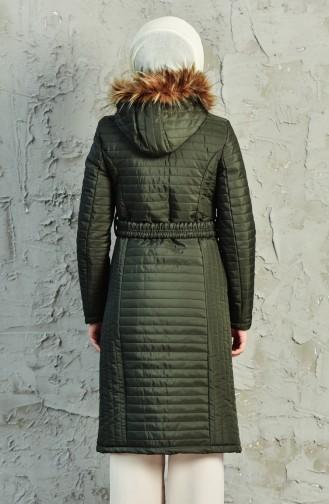 Khaki Winter Coat 0123-04