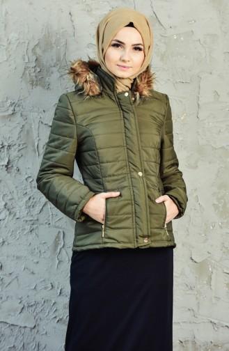 Hooded Padded Coat 0131-03 Khaki 0131-03