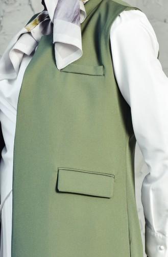 Pocket Detailed Vest 6388-08 Khaki 6388-08