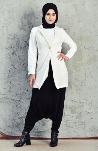 Buttoned Vest 6452-01 Cream 6452-01