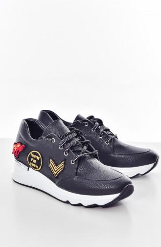 Black Sport Shoes 653K-01