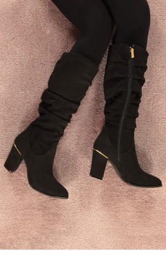 Marjin Lilesa Heeled Boots Black Suede 18K0002900LD056_002