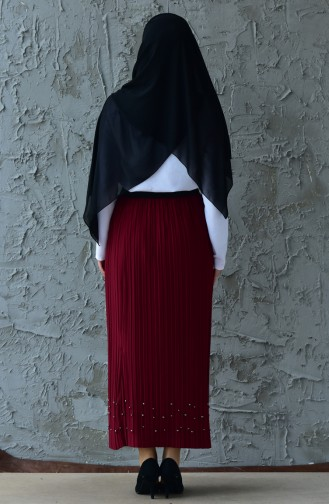 Pleated Skirt 5026-10 Claret Red 5026-10