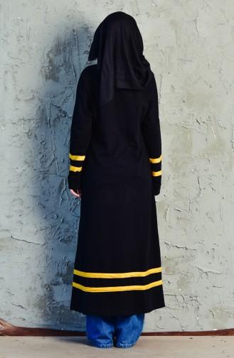 Sports Long Tunic 18102-02 Black Mustard 18102-02