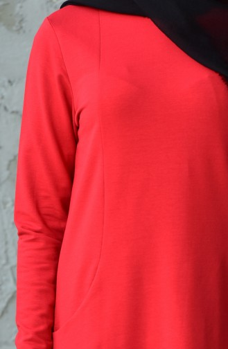 Combed Tunic 10305-02 Red 10305-02