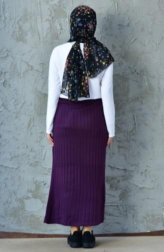 Ribbed Pencil Skirt 31881-04 Purple 31881-04