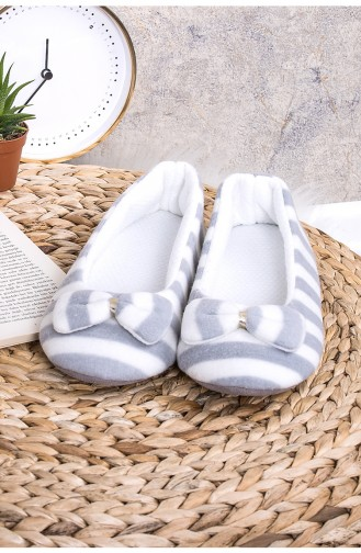 Gray House Shoes 9925-01