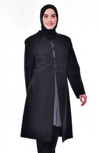 Schwarz Jacke 7322-01