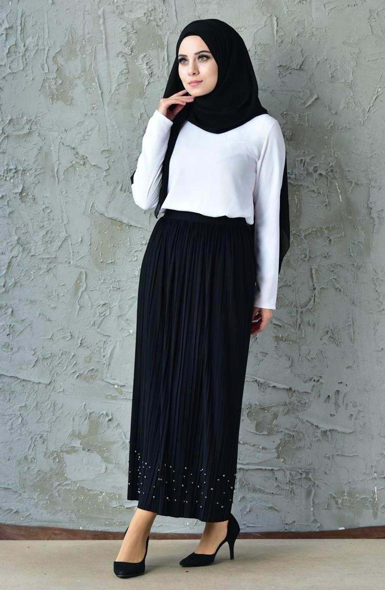 fdb833fde Pleated Skirt 5026-08 Black 5026-08
