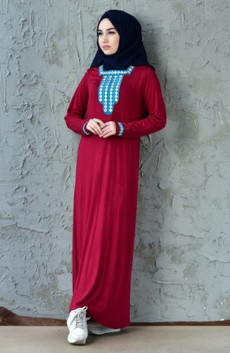 Embroidered Dress 99161-02 Cherry 99161-02