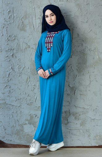 Embroidered Dress 99161-04 Green 99161-04