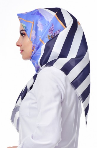 Digital Printed Taffeta Shawl 95221-01 light Blue 95221-01