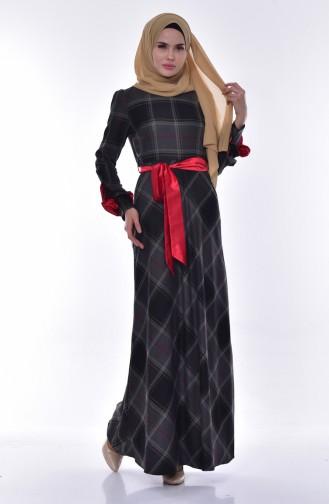 فستان بتصميم كروهات 2128-03 لون رمادي 2128-03