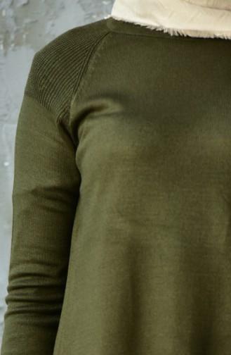 Basic Knitwear Sweater 128312-07 Khaki 128312-07