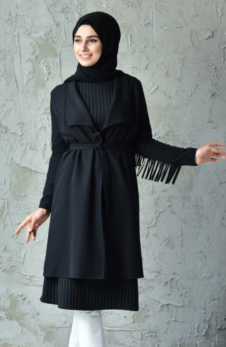 Cape a Franges 4480-05 Noir 4480-05