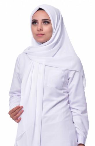 Weiß Kopftuch 02