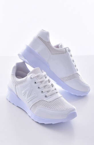 White Sport Shoes 0777-01