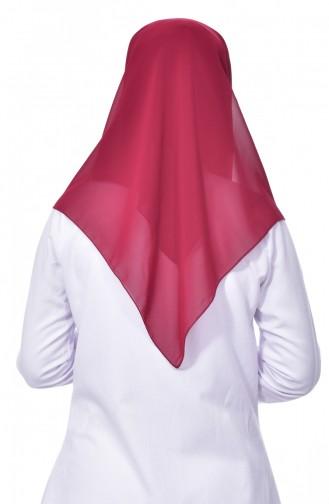Übergröße Kopftuch aus Kreppstoff 50024-33 Weinrot 33