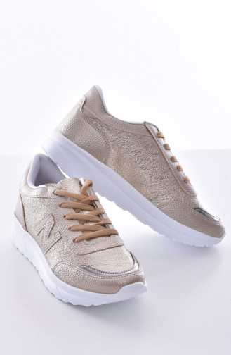 Gold Sport Shoes 0756-03