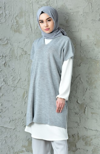 Thin Knitwear Blouse 3200-06 Gray 3200-06