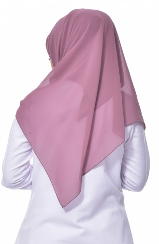 Big Size Crepe Scarf 50024-38 Rose Dry 38