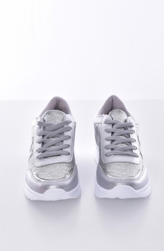 Silver Sport Shoes 0756-04