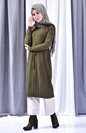 Knitwear Pleated Tunic 31601-06 Khaki 31601-06