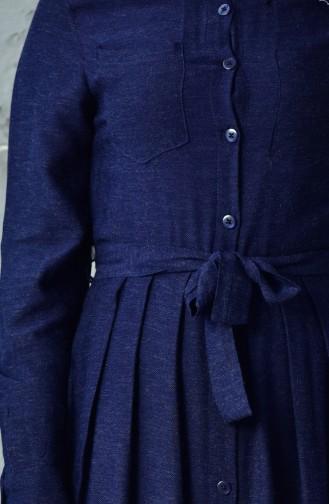 فستان أزرق كحلي 5131-03