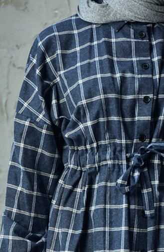 Tunique Taille Plissée Manches Chauve Souris 20765-02 Bleu Marine 20765-02