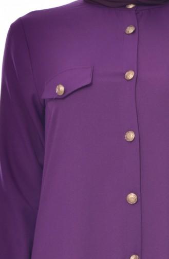 BENGISU Pocket Detailed Dress 2127-08 Purple 2127-08