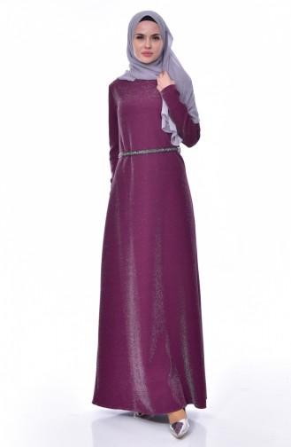 Robe a Ceinture 3566-02 Plum 3566-02
