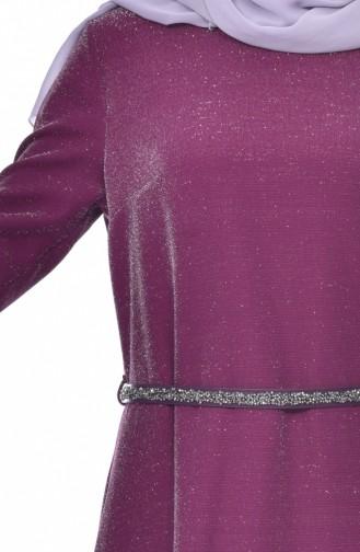 Belt Dress 3566-02 Plum 3566-02