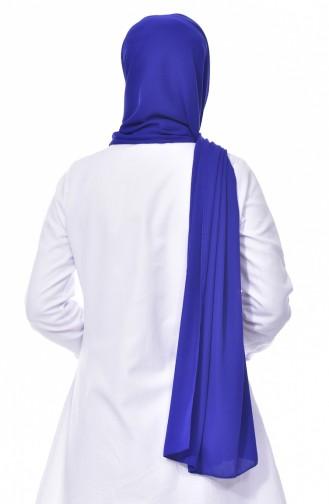 Châle Crêpe 0024-08 Bleu Roi 0024-08