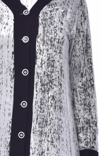 Desenli Hırka 0026B-01 Siyah 0026B-01